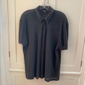 John Varvatos linen short sleeve shirt size M